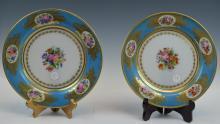 Pr of Opaline Glass Sevres Plate Robert