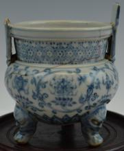 Chinese Blue and White Incense Burner Chenghua