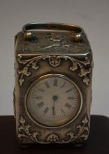 English Silver Carriage Clock