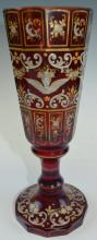 A Bohemian Tall Ruby Red Glass Cup