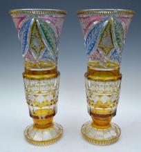 Pr. Bohemian Glass Vases