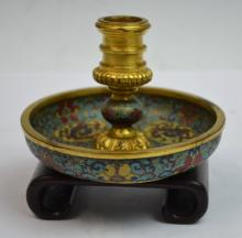 Chinese Cloisonne Candle Stick