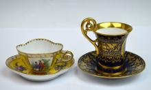 Two Royal Vienna Cups & Saucers