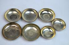 Seven Pieces Silver Drinking Vessels