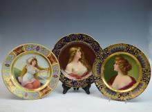 Three Royal Vienna Porcelain Dishes