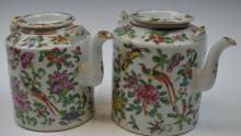Two Chinese Famille Rose Teapots