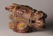 Tête de marionnette des récits du Ramayana