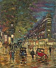 Constantin KOROVINE (Moscou, 1861 - Paris, 1839)   Les Grands boulevards à Paris