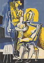 Ossip ZADKINE (Vitebsk, 1890 - Paris, 1967)   La mère, le père et l'enfant