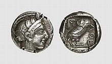 ATTICA, SILVER TETRADRACHM OF ATHENS