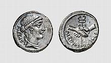 REPUBLIC, SILVER DENARIUS OF IUNIUS BRUTUS ALBINUS