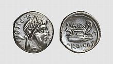 REPUBLIC, SILVER DENARIUS OF CN. POMPEIUS MAGNUS