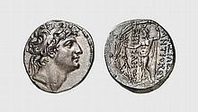 SYRIA, SILVER TETRADRACHM OF ANTIOCHOS VIII
