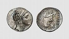 SYRIA, SILVER TETRADRACHM OF ANTIOCHOS V