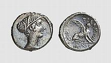 REPUBLIC, SILVER DENARIUS OF T. CARISIUS