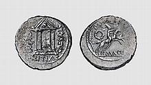 REPUBLIC, SILVER DENARIUS OF P. SEPULLIUS MACER
