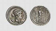 REPUBLIC, SILVER DENARIUS OF P. CLAUDIUS