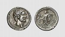 REPUBLIC,  PLATED DENARIUS OF MARCUS ANTONIUS