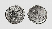 REPUBLIC, SILVER DENARIUS OF C. CASSIUS LONGINUS