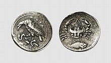 SICILY, SILVER LITRA OF AKRAGAS