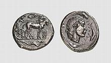 SICILY, SILVER TETRADRACHM OF SYRACUSE