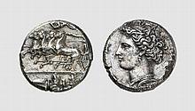 SICILY, SILVER DEKADRACHM OF SYRACUSE