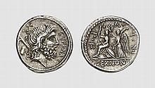 REPUBLIC, SILVER DENARIUS OF M. NONIUS SUFENAS
