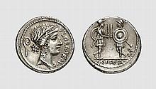 REPUBLIC, SILVER DENARIUS OF C. SERVILIUS