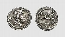 REPUBLIC, SILVER DENARIUS OF P. PLAUTIUS HYPSAEUS