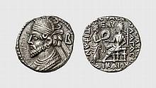 PARTHIA, BILLON TETRADRACHM OF VOLOGASES III