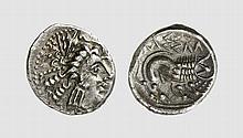 CISALPINA, SILVER DRACHM OF THE CENOMANI