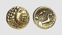 CELTICA, GOLD QUARTER STATER OF THE AEDUI