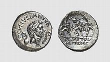 REPUBLIC, SILVER DENARIUS OF SEXTUS POMPEIUS