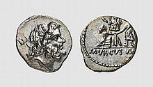 REPUBLIC, SILVER DENARIUS OF L. STAIUS MURCUS