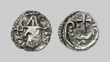 EARLY MEDIEVAL COINS,  MEROVINGIANS,  Denarius from Provence (early 8th century AD) (Arles ?) (Silver,