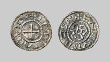 EARLY MEDIEVAL COINS,  Charles le Chauve (843-877),  Denier (circa 864-875) (Les Estinnes),