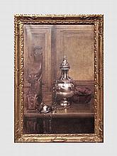 L'encensoir. Huile sur toile. 81 x 51 cm.