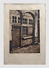 Blieck Maurice Emile (1876-1922). Lot de  4 gravures d'épreuves d'état datées 1912. 33 x 24 cm. Signées en bas à droite et annotées en bas à gauche.