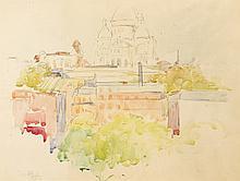 PAVIL Elie-Anatole (1873 - 1948)   Vue du Sacré-Coeur