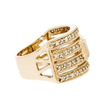 Gorgeous 14K Yellow Gold Women's Diamond Ring - Brand New