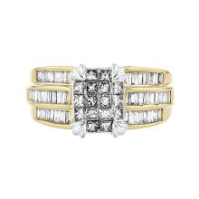 Gorgeous 14K White & Yellow Gold Women's Diamond Ring - 1.66CTW - Brand New