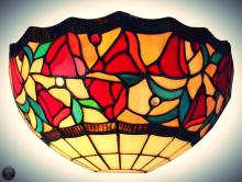 Tiffany Style 12-inch Floral Wall Sconce Lamp