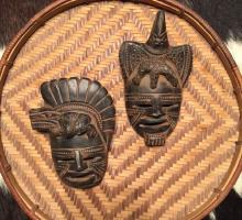 PAIR of Native Hand Carved Tribal Masks (Authentic)
