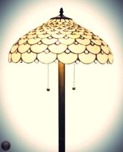Tiffany Style Jeweled Floor Lamp, 18-Inch