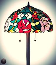 Tiffany Style Roses Floor Lamp 61 in