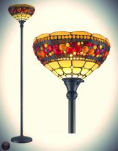 Tiffany Style Torchiere Jeweled Lamp 71 Inches Tall