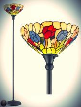 Tiffany Style Tulips Torchiere Lamp 70 Inches Tall