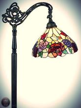 Tiffany Style Roses Reading Floor Lamp 62 In