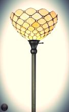 Tiffany Style Floor Torchiere Lamp, 72-Inch