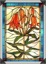 Trumpet Lilies Window Panel